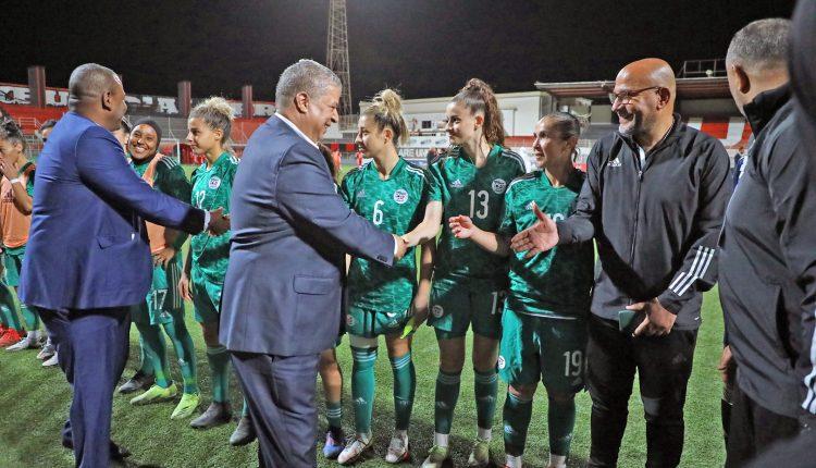Algérie 14- Soudan 0 : Charaf Eddine Amara félicite les « Vertes »