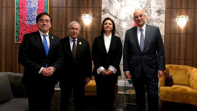 A Tripoli, Ramtane Lamamra s'entretient avec les ministres des Affaires étrangères de l'Espagne, la Grèce et la Libye